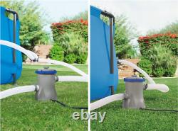 10in1 BestWay SWIMMING POOL 300 x201 Rectangular Garden Above Ground Pool + PUMP