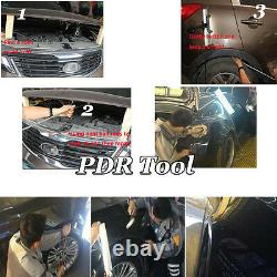 110× US Paintless Dent Repair PDR Tools Push Rods Hail Puller Lifter Hammer Tail