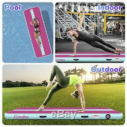 20 FT Inflatable AirTrack Air Tumbling Gymnastics Cheer Track Floor Mat with Pump