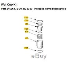 246964 Wet Cup Kit, Graco Pump Repair Kit ISO (A-Side) for E-30 and R2 E-30