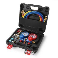 Car Automotive AC Refrigerant Air Conditioning Repair Recharge 1/4 SAE Tool Kit
