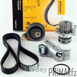 Contitech Timing Belt CT909 + Roller Set Water Pump Audi Seat Skoda VW 1.8 1.8T