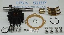 Crusader 20311 Sherwood Major Repair Kit 11068 + Shaft Pump E35 E-35 Impeller