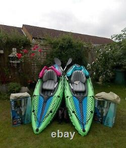 Kayaks Two Complete with Boxs Life Jackets Paddles Pumps Instructions Repair Kit