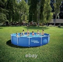 NEW Summer Waves 15ft Active Frame Above Ground Swimming Pool With Pump