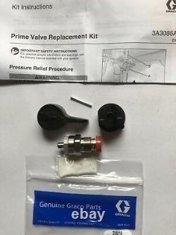 New Genuine Graco Prime Valve Repair Kit #235014 With Handle
