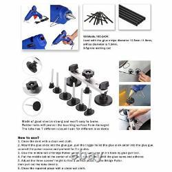 PRO 27pcs Hail Removal Dent Puller Rods Paintless Repair Kit Tool Bag Pump Wedge