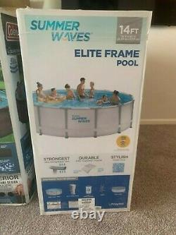 Summer Waves 14-ft Elite Frame Swimming POOL With FILTER PUMP SYSTEM
