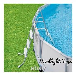 Summer Waves 14 x 42 Elite Frame Above Ground Pool Filter Pump Ladder Cover