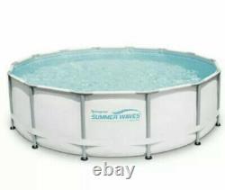 Summer Waves 14 x 42 Elite Frame Above Ground Swimming Pool Filter Pump Ladder