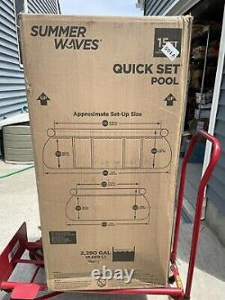 Summer Waves 15 x 10 x 42 Quick Set Oval Above Ground Swimming Pool Pump Set