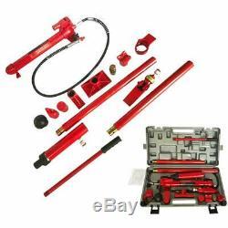 10 Ton Pompe Hydraulique Jack Porta Power Ram Repair Tool Kit Lift Us Expédition
