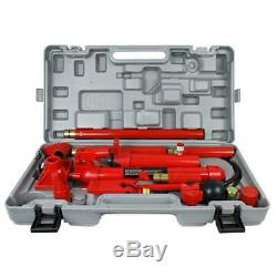 10 Ton Porta Power Pump Air Autobody Cadre Réparation Hydraulique Jack Kits D'outils
