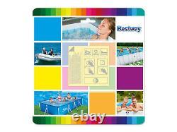 10in1 Piscine Bestway 300 X201 Jardin Rectangulaire Au-dessus De La Piscine Au-dessus Du Sol + Pompe