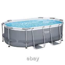12in1 Swimming Pool Bestway 305cm X 200cm X 84cm Au-dessus De La Piscine Ovale Au Sol + Pump