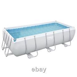 13en1 Swimming Pool Bestway 412cm X 201cm X 122cm Au-dessus Du Rectangle Du Sol + Pump