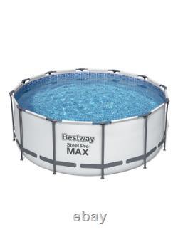 14in1 Swimming Pool Bestway 366cm 12pieds Au-dessus Du Sol Piscine Ronde + Pump