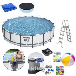 18in1 Swimming Pool Bestway 549cm 18pieds Au-dessus Du Sol Piscine Ronde + Pump