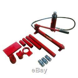 20 Ton Porta Puissance Hydraulique Jack Air Pump Lift Ram Body Frame Repair Tool Kit