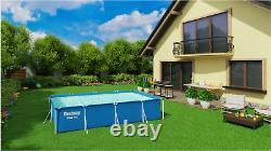 8in1 Piscine Bestway 400 X 211 Jardin Rectangulaire Au-dessus De La Piscine Au-dessus Du Sol + Pompe