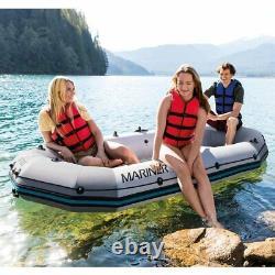 Bateau Radeau 3 Personnes Avec Paddles, Pompe, Kit De Réparation Et Sac De Transport Intex Mariner