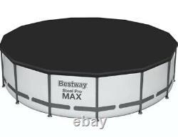 Bestway 15' X 42 Round Steel Pro Max Ensemble De Piscine Au-dessus Du Sol Avec Pompe