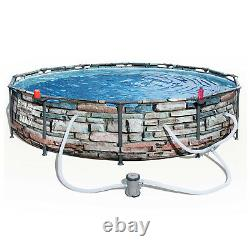 Bestway 56817e 12' X 30 Steel Pro Max Round Above Ground Swimming Pool Avec Pompe