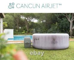 Brand New Lay Z Spa Cancun 2021 Version 4 Person Inflatable Hot Tub P&p Gratuit