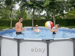 Cadre Rond Pool Wimming 366 X 100 12ft Jardin Piscine Au-dessus Du Sol Avec Pump Set