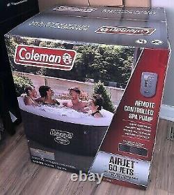 Coleman Saluspa 71 X 26 Havana Airjet Bain À Remous Gonflable Avec Télécommande