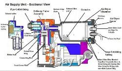 Discovery 3 4 Compresseur D'air Pompe Et Sécheuse Principal Kit De Réparation Hitachi Land Rover