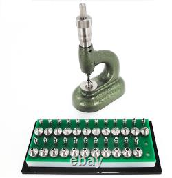 Empierrage Outil De F20929b Horloger Avec Vis Micrométrique Et Pompe Pusher Anvil