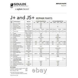 Goulds J5skit Kit De Reconstruction De Réparation Pour Goulds J5s Shallow Water Well Jet Pump