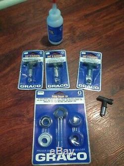 Graco Nova 390 Pulvérisateur De Peinture Pc Avec Le Kit De Réparation De La Pompe