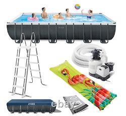 Grand Intex Wimming Pool 732 X 366 X 132cm Piscine De Jardin +poupe D'eau Gift