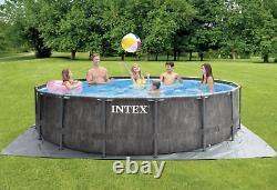 Greywood Swimming Pool Intex 457 CM 15 Ft Garden Ground Pool + Ladder Pump Gift
