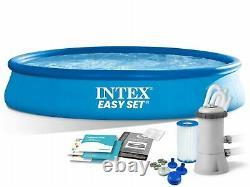 Intex 28158 Set Facile Au-dessus Du Sol Piscine Gonflable Ronde 15ft 457x84cm Avec Pompe