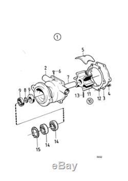Kit De Réparation De La Pompe Pour L'eau Volvo Penta Md3 Md17 Aq115 Aq130 Pompe 875698 829895