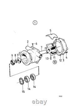 Kit De Réparation De Pompe À Eau Pour Volvo Penta Md3 Md17 Aq115 Aq130 875698 Pompe 829895