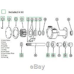Major Kit De Réparation Pour Jabsco Pompe 5850-0001 Impulseur Joints Joint Plaques Roulements