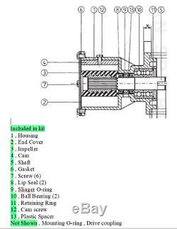Major Kit De Réparation Pour Volvo Penta Pompe 860629 860827 861198 Kad 32/42/43/44 Kamd