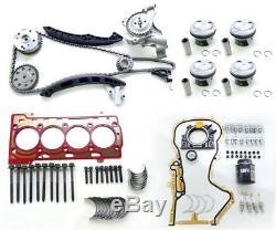 Neu Reparaturset (mit Übermaßkolben) Für Audi Vw Seat Skoda 1.4 Tsi Cav Cth Ctj