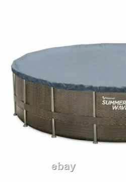 New Summer Waves 22ft X 52in Au-dessus Du Sol Piscine + Pompe, Échelle, Couverture