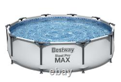 Piscine 20in1 Bestway 305cm 10ft Garden Round Frame Ground Pool + Pump Set