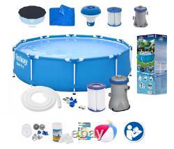 Piscine Bestway 18in1 366cm 12ft Garden Round Frame Ground Pool + Pump Set